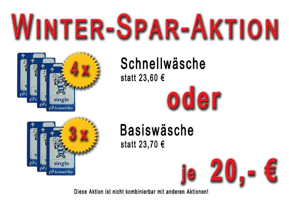 AVIA Tankstelle Horb - Angebot Waschstraße - Wintersparaktion